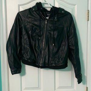 Torrid Faux Leather Double Zipper Jacket